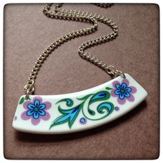 A personal favourite from my Etsy shop https://www.etsy.com/uk/listing/267249276/vintage-china-necklace-broken-plate