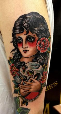 Gypsy woman and skull by Paul Anthony Dobleman