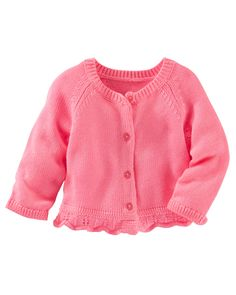 Baby Girl Neon Ruffle-Hem Cardi from OshKosh B'gosh. Shop clothing & accessories from a trusted name in kids, toddlers, and baby clothes.
