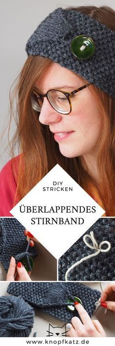 DIY: Überlappendes Stirnband – extra lang, besonders warm - Home & DIY Beginner Knitting Patterns, Knitting Blogs, Knitting For Kids, Easy Knitting, Knitting For Beginners, Loom Knitting, Knitting Needles, Knitting Ideas, Jojo Siwa