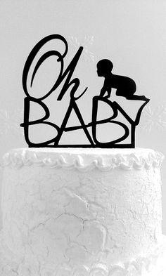 Oh Baby Cake Topper by CakeTopperDesign on Etsy