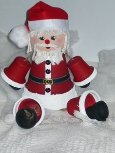 Clay+Pot+Craft+Projects | santa claus clay