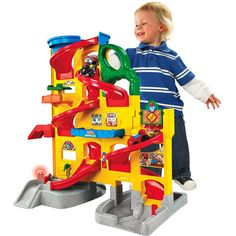 Fisher-Price Little People Wheelies Stand 'n Play Rampway. Gabe would love this!!