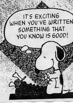 Snoopy is right--as usual!