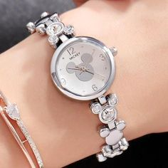 Mickey Mouse Luxury Watch Perfect watch for Mickey lovers! Elegant Watches, Beautiful Watches, Stylish Watches, Modern Watches, Mickey Mouse, Rolex Datejust, Patek Philippe, Cartier, Silver Pocket Watch