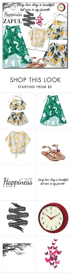 """""""Zaful summer style"""" by malasirena989 ❤ liked on Polyvore featuring York Wallcoverings, Native State and Improvements"""