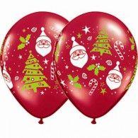 28cm Santa & Christmas Tree Ruby Red Pkt50 $54.95  Q40571
