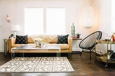 Take a tour of Brandi Cyrus's home to see how a country star turns her urban abode into a stylish bohemian escape.