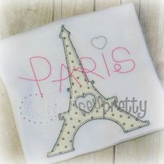 Blanket Eiffel Tower--All things Paris for your little one or tween!  These applique designs stitch in 15 minutes or less!