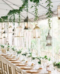 """12.1k Likes, 117 Comments - The Knot (@theknot) on Instagram: """"Hanging lanterns add a unique vintage flare to this outdoor wedding!  #theknot :…"""""""