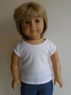 Tshirt for American Girl or other 18 inch dolls by HoleInMyBucket, $7.00