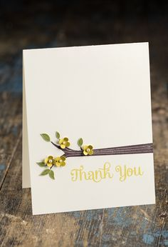 Sweet and Simple, a lovely thank you card.