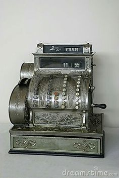 Photo about An old-fashioned cash register. Image of front, business, fashioned - 3799761 Vintage Cash Register, Old General Stores, Cash Box, Weird Cars, Old Phone, Vintage Industrial, Inventions, Antique Silver, Retro Vintage
