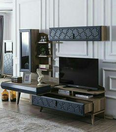 Trudy John's media statistics and analytics Wardrobe Design Bedroom, Tv In Bedroom, Bedrooms, Tv Unit Furniture Design, Living Furniture, Modern Dressing Table Designs, Tv Retro, Room Interior, Interior Design