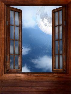 Brisa fresca Noche clara, luna llena, brisa fresca, es primavera rosas rojas en un jarrón, ella, sentada en su cama,...
