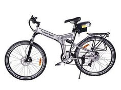 NEW X-Treme Power Assisted Folding Mountain Bike / Bicycle running on a 300 watt rear hub motor, a removable lightweight Lithium battery pack, 7 Speed Shimano