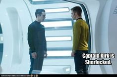 Who isn't! | As If it's Possible Not to Be.....Captain Kirk is Sherlocked! | @Cheezburger