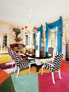 How to add instant personality to your dining room: Playfully Patterned chairs