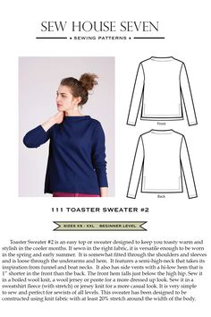 Toaster Sweater #2 by Sew House Seven Pattern Preview 1 | Indiesew.com