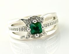 14K Blue Green Tourmaline Ring Vintage Tourmaline by RareEarth