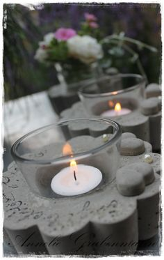 Concrete candle holder!