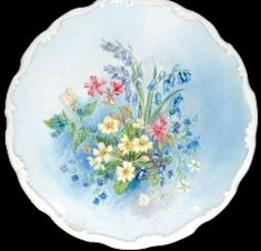 Royal Albert - Shakespeare's Flowers - Collector Plates www.royalalbertpatterns.com Primroses, Painted Plates, China Plates, Royal Albert, Violets, China Porcelain, Teapots, The Collector, Trays