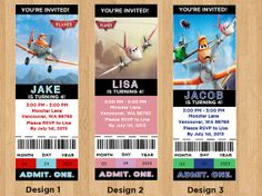 Disney Planes the movie Disney Planes Ticket DIY by Onthegoprints, $8.00
