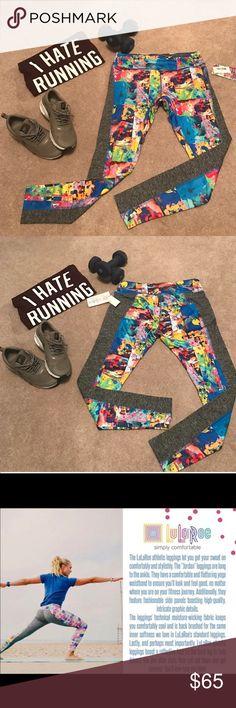 LuLaRoe Jordan workout leggings NWT LuLaRoe Jordan workout leggings, NWT. Size large, price is firm LuLaRoe Pants Leggings