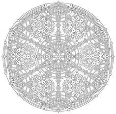 Mandala 736, Creative Haven Snowflake Mandalas Coloring Book, Dover Publications