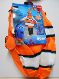 SIZE 4-6 Boys Halloween Costume NEW Finding Dory Nemo 1 PC Goldfish Costume #Disguise #CompleteOutfit
