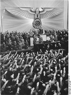 JUL  19 1940 Hitler makes a Peace offer to Britain: Adolf Hitler in the Reichstag