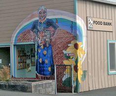 Mural in Eureka, CA at Food for People