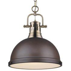 Brass Pendant Light, Industrial Pendant Lights, Pendant Lighting, Lantern Pendant, Residential Lighting, Traditional Lighting, Glass Diffuser, Modern Farmhouse Decor, Farmhouse Lighting