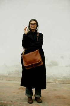 """Renata Molho - 2008 - """"Not too many beatiful things together: one particular element and the rest must be something cooler, silent and respectful like a frame in a picture."""" - a description of a reverse sense of style of Susie Lau"""