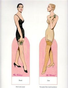 Classic Dior* 1500 free paper dolls at Arielle Gabriel's International Paper Doll Society for Pinterest paper doll pals *