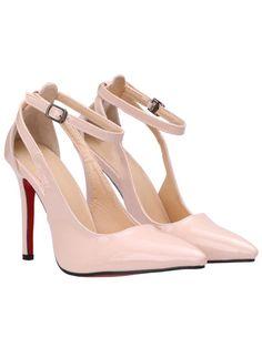 Scarpe con fascia alla caviglia tacco alto nudo