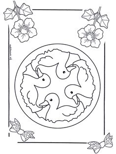 Many, many coloring pages. Children mandala