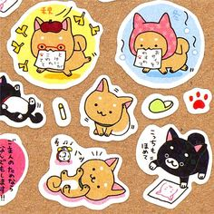 kawaii IIwaken dog stickers from Japan 1