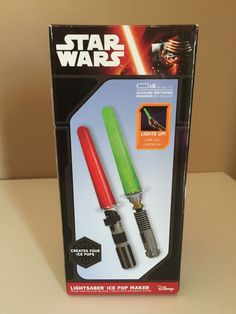 Disney Star Wars Lightsaber Ice Pop Maker New Lights Up Light Saber