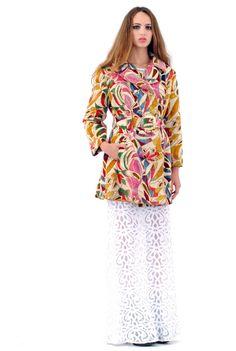 Pia Carpet Bag Floral Coat $258