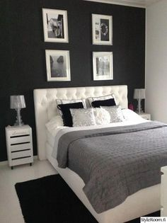 25 Black and White Bedrooms Interior Design Trends for 2019 - Home Sweet Home - Bedroom Ideas Room Ideas Bedroom, Home Decor Bedroom, Black Bedroom Decor, Bedroom Furniture, Room Interior, Interior Design, Kitchen Interior, House Rooms, Room Inspiration