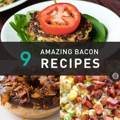 Why limit bacon consumption to breakfast and brunch when the fact of the matter is that this delectable edible is versatile enough to be enjoyed all day, every day? Bacon Recipes, Brunch Recipes, Easy Dinner Recipes, Great Recipes, Easy Meals, Copycat Recipes, Drink Recipes, I Love Food, Good Food