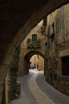 ✮ A Street In The Medieval Town Of Pals, Spain