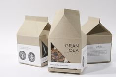 New Leaf Packaging/Branding by Joy Allen, via Behance {packaging like this would be better for pouring cereal.}