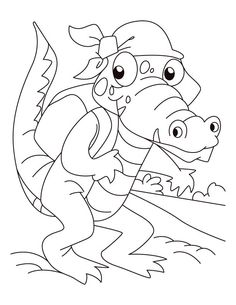 Vintage Gator Coloring Pages 81 Taa is for Temssah