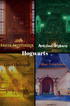 I like the gryffindor one the best. Of course, since I am a Gryffindor. But for real, look how cozy it is! Harry Potter Classroom, Harry Potter Houses, Harry Potter Fan Art, Harry Potter Universal, Harry Potter Memes, Harry Potter World, Potter Facts, Hogwarts Houses, Must Be A Weasley