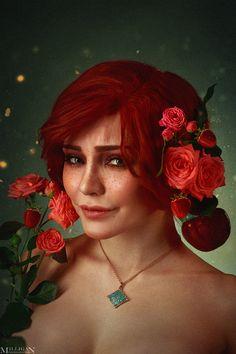 The Witcher - Flower portraits - Triss by MilliganVick.deviantart.com on @DeviantArt