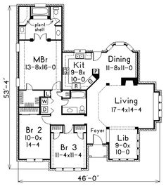 Evelyn Atrium Ranch Home House Plans Home And Ranch