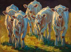 Cow Curiosity by Cheri Christensen