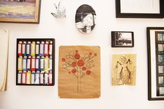 marc and ian hundley « the selby Letterpress, Printmaking, Gallery Wall, Treehouse, Frame, Creative, Painting, Living Room, Home Decor